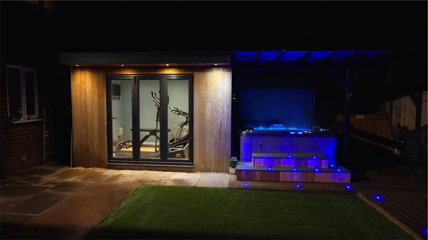 Image of Garden Gym with pergola & hot tub